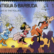 ANTIGUA AND BARBUDA - CIRCA 1989: Stamp printed in Antigua dedicated to international philatelic exhibition in France, shows a night at the follies, circa 1989 — Photo