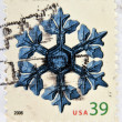 UNITED STATES OF AMERICA - CIRCA 2006: A stamp printed in USA shows snow crystal, circa 2006 — Stock Photo