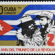 CUBA - CIRCA 1984: A Stamp dedicated to 25th Anniversary of the Victory of the Cuban Revolution, shows Fidel Castro and Camilo Cienfuegos, circa 1984 — Stock Photo