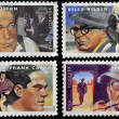 Stock Photo: UNITED STATES OF AMERICA - CIRCA 2012: stamps printed in USA dedicated to the Great Film Directors First-Class Forever, circa 2012