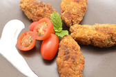 Ration of Croquettes, typical Tapa of Spanish Cuisine — Stock Photo