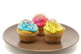 プレート上のカップケーキ — ストック写真