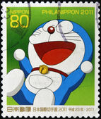 JAPAN - CIRCA 2011: A stamp printed in japan shows Doraemon , circa 2011 — Stock Photo
