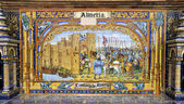 Famous ceramic decoration in Plaza de Espana, Sevilla, Spain. Almeria theme. — Stock Photo