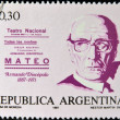 Stock Photo: ARGENTIN- CIRC1987: stamp printed in argentinshows Armando Discepolo, circ1987