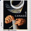 CANAD- CIRC1999: stamp printed in Canada, shows bookbinging, circ1999 — Stock Photo #33683671