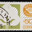 MEXICO - CIRC1988: stamp printed in Mexico shows Cotton, MexicExport, circ1988 — Foto Stock #33684197