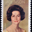 UNITED STATES OF AMERICA - CIRCA 2012: A stamp printed in USA shows Lady Bird Johnson, circa 2012 — Stock Photo