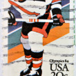 UNITED STATES OF AMERICA - CIRCA 1984: A stamp printed in USA dedicated to the Olympics 84 shows ice hockey, circa 1984 — Stock Photo