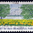 UNITED STATES OF AMERICA - CIRCA 2012: A stamp printed in USA dedicated to Lady Bird Johnson, shows Plant for more Beautiful Parks, circa 2012 — Stock Photo