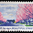 UNITED STATES OF AMERICA - CIRCA 2012: A stamp printed in USA dedicated to Lady Bird Johnson, shows Plant for more Beautiful Streets, circa 2012 — Stock Photo