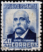 SPAIN - CIRCA 1931: A stamp printed in Spain shows Emilio Castelar, circa 1931 — Foto Stock