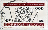 MEXICO - CIRCA 1966: A stamp printed in Mexico, shows boxing, circa 1966 — Stock Photo