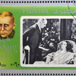 FUJEIRA - CIRCA 1972 : stamp printed in Fujeira shows actor Erich von Stroheim, circa 1972 — Stock Photo