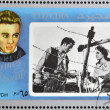 FUJEIRA - CIRCA 1972 : stamp printed in Fujeira shows actor James Dean, circa 1972  — Stock Photo