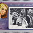 FUJEIRA - CIRCA 1972 : stamp printed in Fujeira shows actress Sharon Tate, circa 1972  — Stock Photo