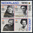 NETHERLANDS - CIRCA 1990: A stamp printed in the Netherlands shows Beatrix of the Netherlands, circa 1990  — Stock Photo
