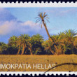 GREECE - CIRCA 2004: Stamp printed in Greece shows Palm forest at Vai beach in Crete island, circa 2004 — Stock Photo
