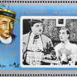 FUJEIRA - CIRCA 1972 : stamp printed in Fujeira shows actor Buster Keaton, circa 1972 — Stock Photo