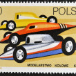POLAND - CIRCA 1981: A stamp printed in Poland shows radio-controlled racing cars, circa 1981 — Stock Photo