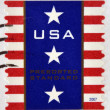 UNITED STATES OF AMERICA - CIRCA 2007: A stamp printed in USA shows Patriotic Banner, circa 2007 — Stock Photo