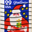 UNITED STATES OF AMERICA - CIRCA 1994: A stamp printed in USA shows Santa, greetings, circa 1994 — Stock Photo