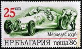 BULGARIA - CIRCA 1986: A stamp printed in Bulgaria showing vintage car Mercedes 1936, circa 1986 — Stock Photo