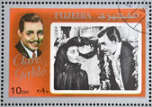 FUJEIRA - CIRCA 1972 : stamp printed in Fujeira shows actor Clark Gable, circa 1972 — Stock Photo