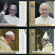 ARGENTINA - CIRCA 2013: stamps printed in Argentina shows pope Francis I, circa 2013  — Stock Photo