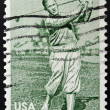 UNITED STATES OF AMERICA - CIRCA 1981: A stamp printed in USA shows golf player Bobby Jones, circa 1981  — Stock Photo