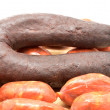 Sausage and blood sausage (chorizo y morcilla) — Stock Photo