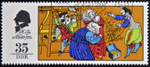 GERMANY - CIRCA 1975: A stamp printed in Germany shows The Emperor's New Clothes, scene from a fairy tale by Hans Christian Anderse, circa 1975 — Stock Photo