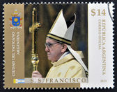 ARGENTINA - CIRCA 2013: A stamp printed in Argentina shows pope Francis I, circa 2013 — ストック写真