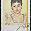 GERMANY - CIRCA 1980: Stamp printed in East Germany shows Portrait of Madame de R. by Ferdinand Hodler, circa 1980  — Stock Photo