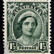 AUSTRALIA - CIRCA 1943: A stamp printed in Australia shows portrait of Queen Elizabeth II, circa 1943  — Stock Photo