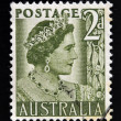 AUSTRALIA - CIRCA 1950: A stamp printed in Australia shows Queen Elizabeth the Queen mother, circa 1950.  — Stock Photo