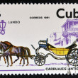CUBA - CIRCA 1981: A stamp printed in Cuba dedicated to antique carriages, shows Lando, circa 1981 — Stock Photo