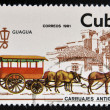 CUBA - CIRCA 1981: A stamp printed in Cuba dedicated to antique carriages, shows Guagua, circa 1981 — Stock Photo
