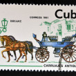 CUBA - CIRCA 1981: A stamp printed in Cuba dedicated to antique carriages, shows Breake, circa 1981 — Stock Photo #36354053