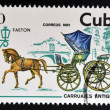 CUBA - CIRCA 1981: A stamp printed in Cuba dedicated to antique carriages, shows Faeton, circa 1981 — Stock Photo