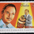 CUBA - CIRCA 1999: A stamp printed in cuba dedicated to  famous Cuban musicians, shows Damaso Perez Prado, circa 1999 — Stock Photo