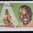 CUBA - CIRCA 1999: A stamp printed in cuba dedicated to  famous Cuban musicians, shows Chano Pozo, circa 1999 — Stock Photo