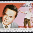 CUBA - CIRCA 1999: A stamp printed in cuba dedicated to  famous Cuban musicians, shows Miguelito Valdes, circa 1999 — Stock Photo