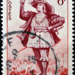 FRANCE - CIRCA 1953: a stamp printed in France shows image of Gargantua, the literary character created by Francois Rabelais, circa 1953 — Stock Photo