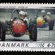 DENMARK - CIRCA 2006: A stamp printed in Denmark shows 1958 Alfa Dana Midget, Swebe - JAP, circa 2006. — Stock Photo