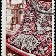 FRANCE - CIRCA 1954: a stamp printed in France shows Tapestry and Gobelin Workshop, circa 1954  — Stock Photo