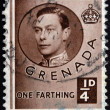 GRENADA - CIRCA 1940: A stamp printed in Grenada shows King George VI, circa 1937 — Stock Photo