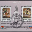 HUNGARY - CIRCA 1982: Stamps printed in Hungary dedicated to George Washington, circa 1982 — Stok fotoğraf