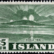 ICELAND - CIRCA 1947: A stamp printed in Iceland shows Hekla, circa 1947 — Stock Photo #36355195