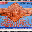 ITALY - CIRCA 2010: A stamp printed in Italy shows crafts Coral Tower of the Greek, circa 2010 — Stock Photo